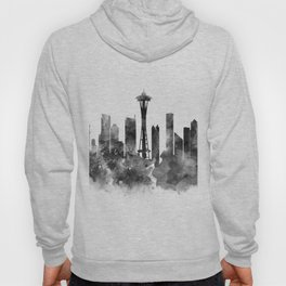 Seattle Black and White Hoody