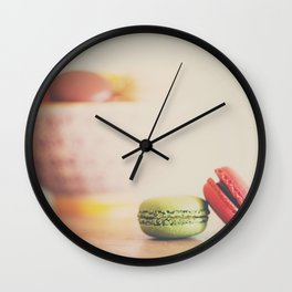 a macaron still life ... Wall Clock