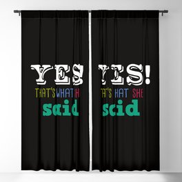 Yes That's what she said Blackout Curtain