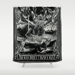 THE DEVIL of Tarot Cats Shower Curtain