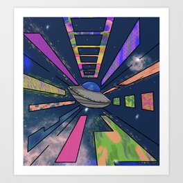 Space Cruising Art Print