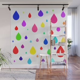 colorful raindrops Wall Mural