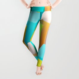 Color Blocking Pastels Leggings