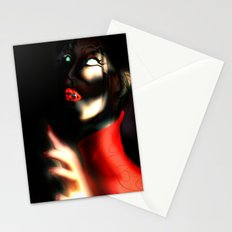 Red Art Stationery Cards