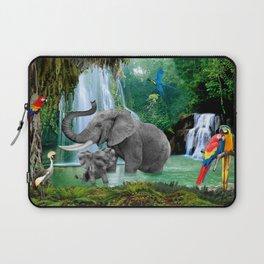 ELEPHANTS OF THE RAIN FOREST Laptop Sleeve