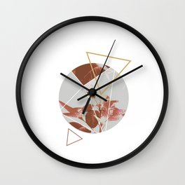 Pastels Geometric Abstract Wall Clock