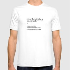 Couchophobia SMALL Mens Fitted Tee White