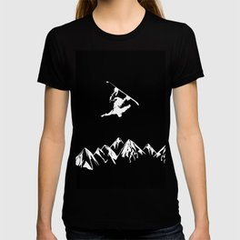 Rocky Mountain Snowboarder Catching Air T-shirt