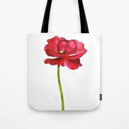 Ink Poppy Painting (Original Artwork) Tote Bag