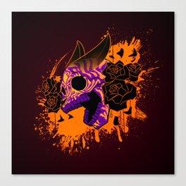 Skull 'n' Roses (NightmareNetty-Colored) Canvas Print