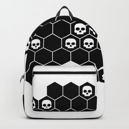 Honey Skulls - Black & White Backpack