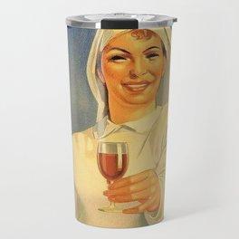 1918 Extremely Rare Amaro Aperitif Gino Boccasile Isolabella Vintage Advertising Food & Wine Poster Travel Mug