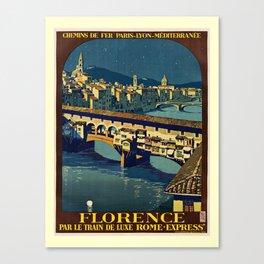 retro Florence Canvas Print