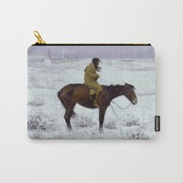 "Frederic Remington Western Art ""The Herd Boy"" Carry-All Pouch"