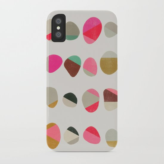 painted pebbles 1 iPhone Case