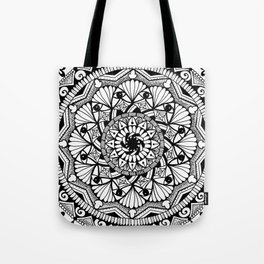 Black & White - I See You - Mandala Tote Bag