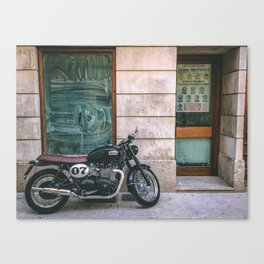 Bike in Majorca Canvas Print