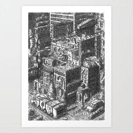 City Landscape Art Print