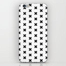 CROSS ((black on white)) iPhone Skin