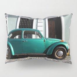 Green old car Pillow Sham