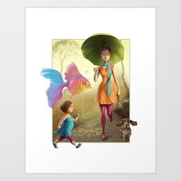 Pet Love Art Print