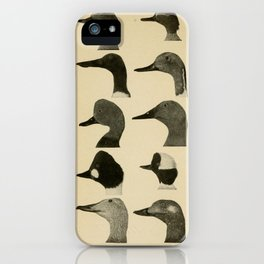 Vintage Duck Heads iPhone Case