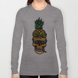 Pineapple Skull Long Sleeve T-shirt