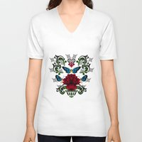 butterflies V-neck T-shirts featuring Butterflies by Lorelei Douglas