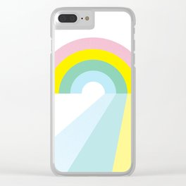 Life is a journey, Enjoy the Pride! #rainbow #Pride #lifestyle Clear iPhone Case