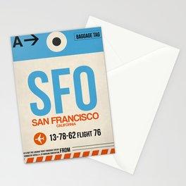 SFO San Francisco Luggage Tag 1 Stationery Cards
