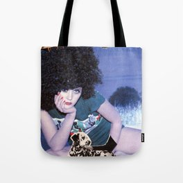 The girl with a bird's nest in her hair Tote Bag
