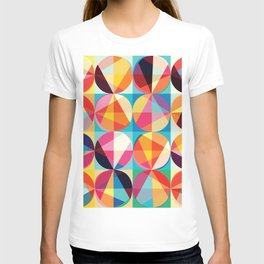 Beautiful colors Geometry, geometric abstract triangles circles squares T-shirt