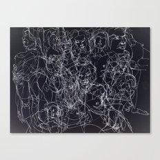 scribblesheet one negative Canvas Print