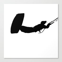 Getting High Kiteboarder Silhouette Canvas Print