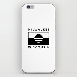 Milwaukee Wisconsin - White - People's Flag of Milwaukee iPhone Skin