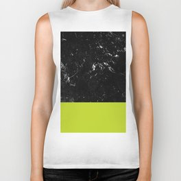 Lime Punch Meets Black Marble #1 #decor #art #society6 Biker Tank