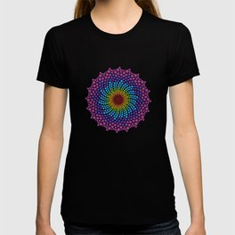 7 Chakra Color Dots Mandala T-shirt