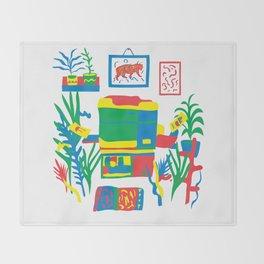 Risograph studio Throw Blanket