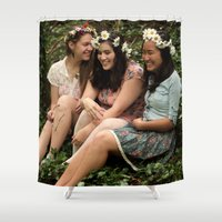 fairies Shower Curtains featuring Forest Fairies by Frances Dierken