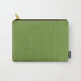 Knitted spring colors - Pantone Greenery Carry-All Pouch
