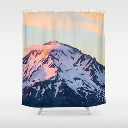 Mount Shasta Sunset Glow Shower Curtain