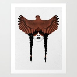 Dark Cardinal Art Print