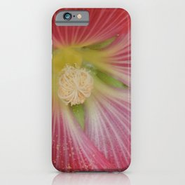 Heart of a Hollyhock Blossom iPhone Case