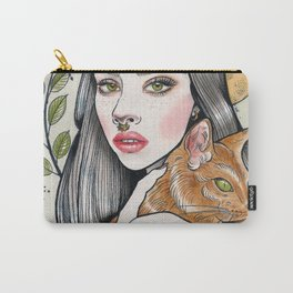 The Girl and Her Cat Carry-All Pouch