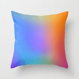Colorful Multicolor Rainbow Gradient / GFTgradient011 Throw Pillow