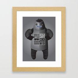 Push My Buttons Framed Art Print