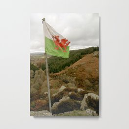 Top of the Hill Welsh Flag Metal Print