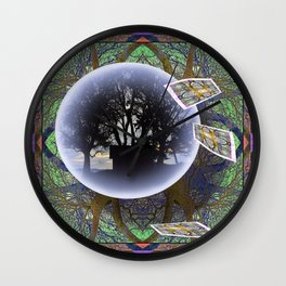 MANDALA OF PLACE AND ECONOMY Wall Clock