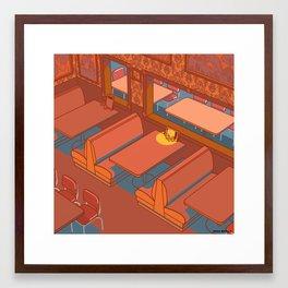 Dots Cafe, Portland Oregon Framed Art Print