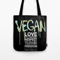 vegan Tote Bags featuring VEGAN by Elisaveta Stoilova